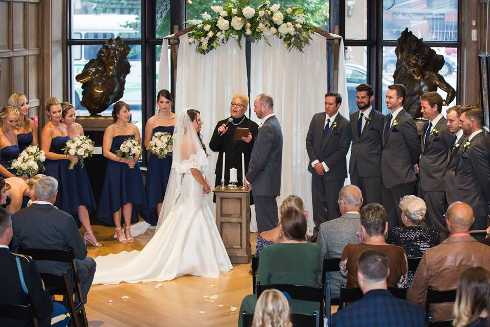 Formal Wedding Ceremony, Gallery Forty-Two Indianapolis, IN Marry Me In Indy! LLC Dimensions Photography